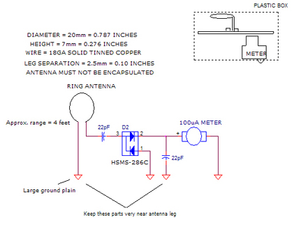 2GHzDet3, Make 2.45GHz RF Signal Detector