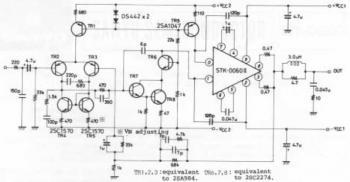 60W AF Amplifier Using STK-0060II circuit diagram