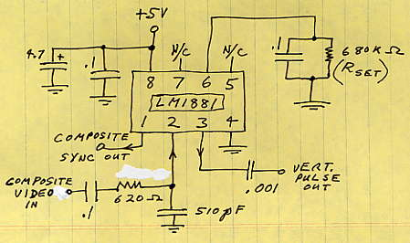 Circuit Diagram Lm1881 Video Sync For Tv And Lcd Monitor Separator