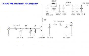 Making 15W FM RF Amplifier using 2SC2539
