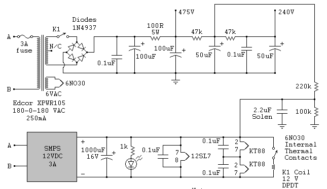 PCB Booster tube and light flow control valves using 12AU7