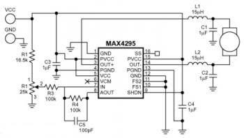 diagram of motor speed control circuit Maxim MAX4295