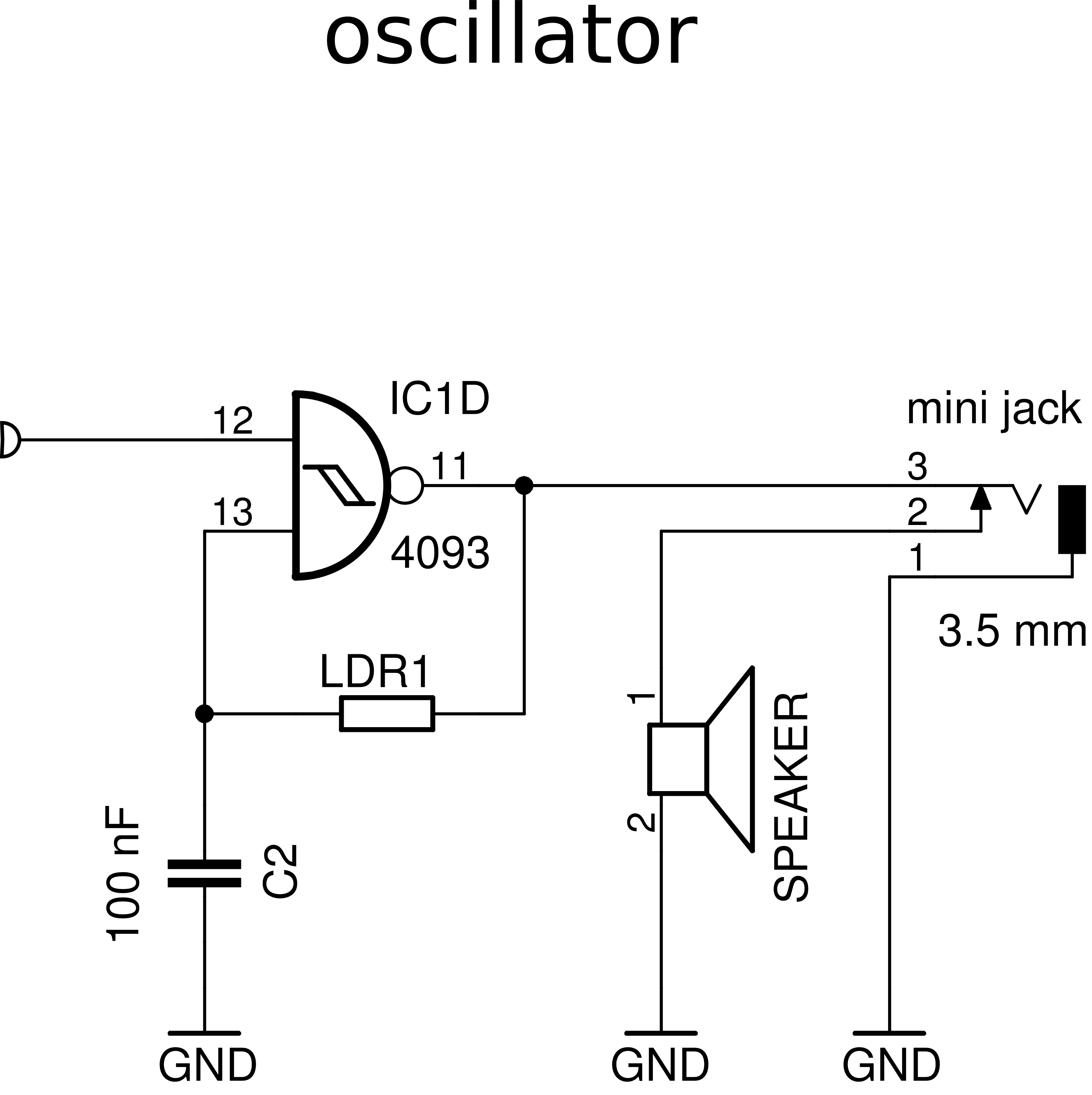 CD4093 oscillator