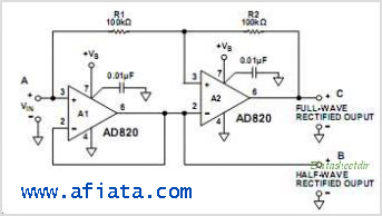 Comparator OP Amp using IC AD820, AD539,  AD827, AD538
