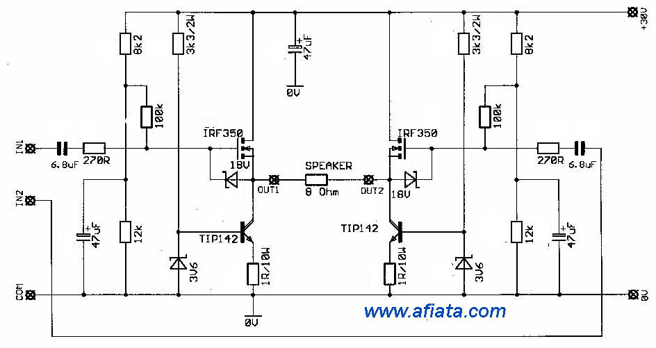 amplifiers audio using mosfet
