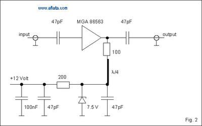 RF power amplifier design using MGA86563