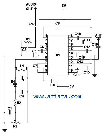 Radio receiver Circuit using TDA7000