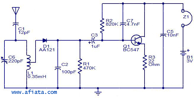 radio circuit electronic circuit diagram and layout Simple Transmitter and Receiver Circuit Schematic Circuit Diagram