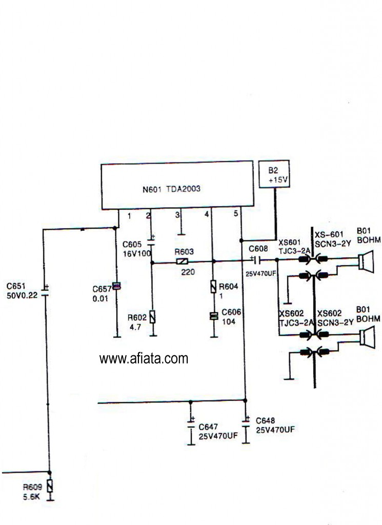 Electronic Circuit Diagram Tv Audio Using Tda2003