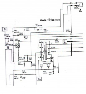 Electronic Circuit Diagram TV Horzontal, D2499, 2SD2499 and fbt BSC25-0000