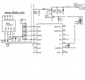 Electronic Circuit Diagram TV Memory program Using AT24C0, 24C02N