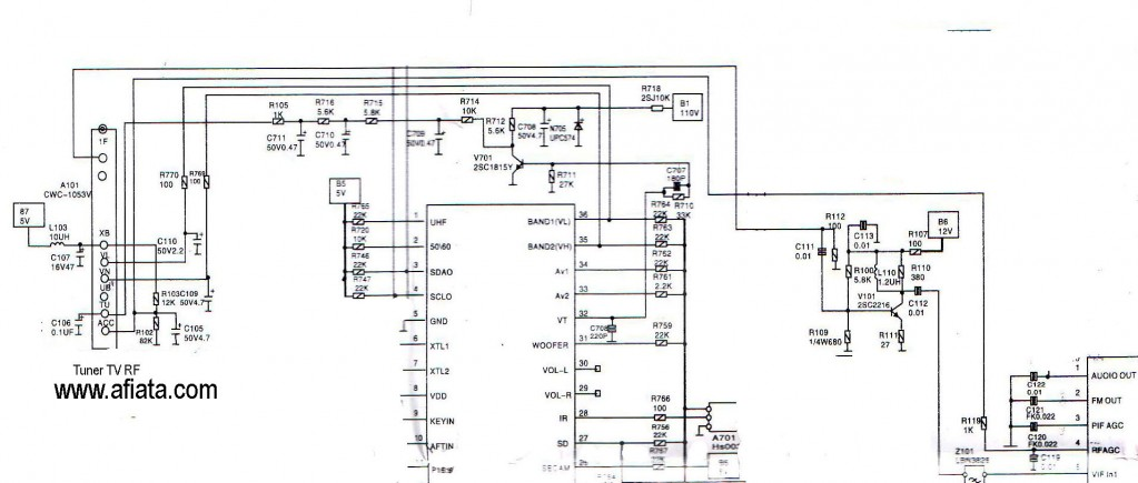 Tv Tuner Reciver Uhf Vhf Electronic Circuit Diagram And Layout