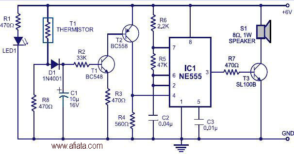 Fire alarm beeping circuit diagram