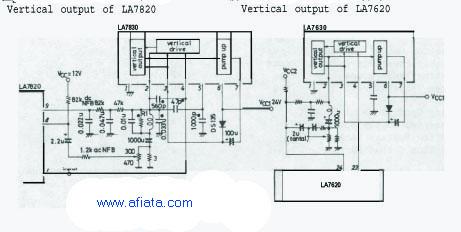 LA7833 and la7820 for TV Vertical