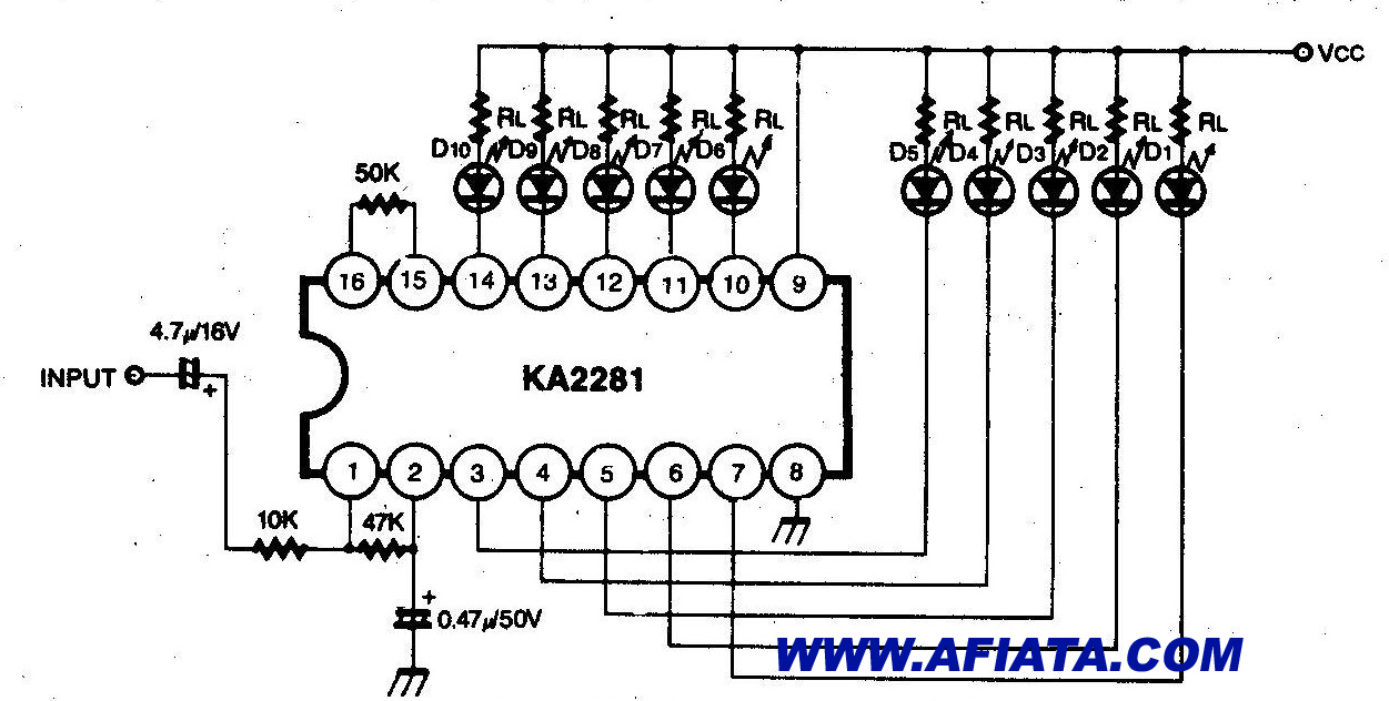 Audio Vu Meter Mono Circuit on charger circuit schematic