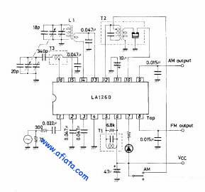 AM tuner circuit using IC LA1260