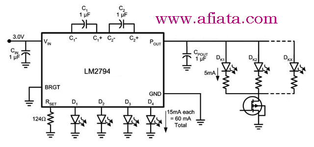 lm2794 circuit for led display charge pump
