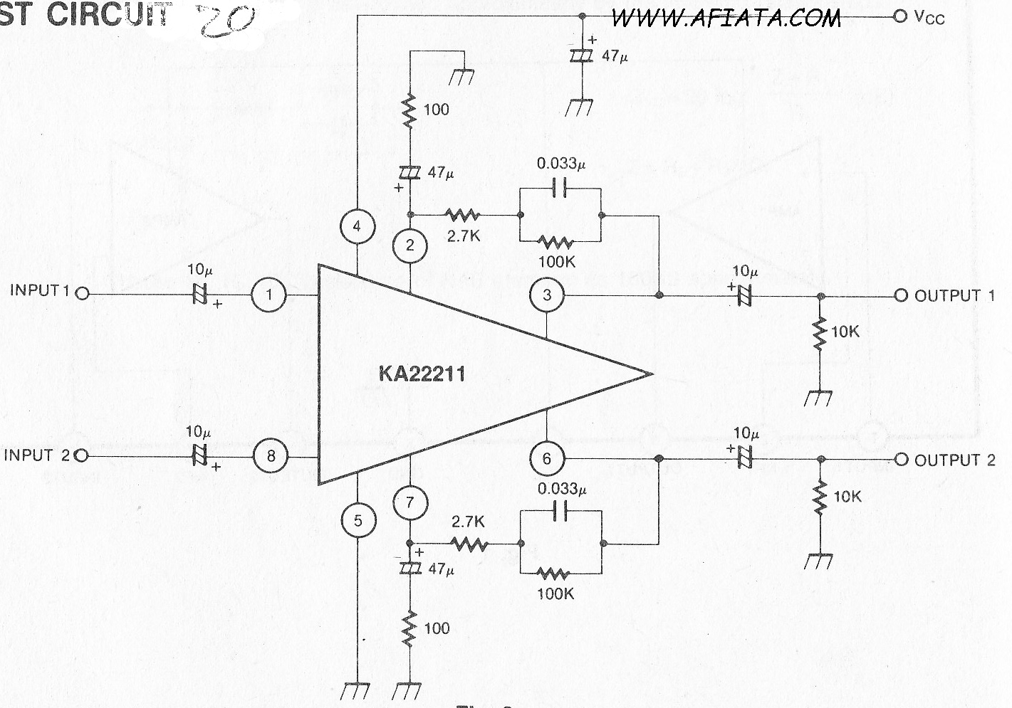 LOw Noise Equalizer Amplifier circuit using KA22211