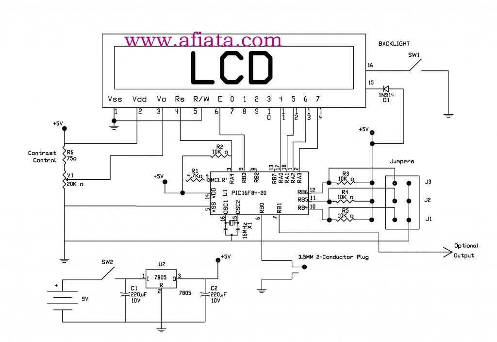 PIC16F84 Circuit Electronic Circuit Diagram And Layout - Circuit Diagram Nokia 3310