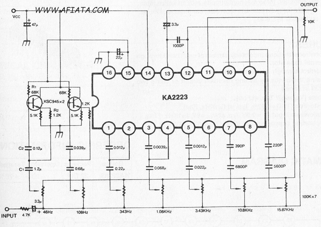 5 BAND Audio GRAPHIC EQUALIZER AMPLIFIER using KA2223