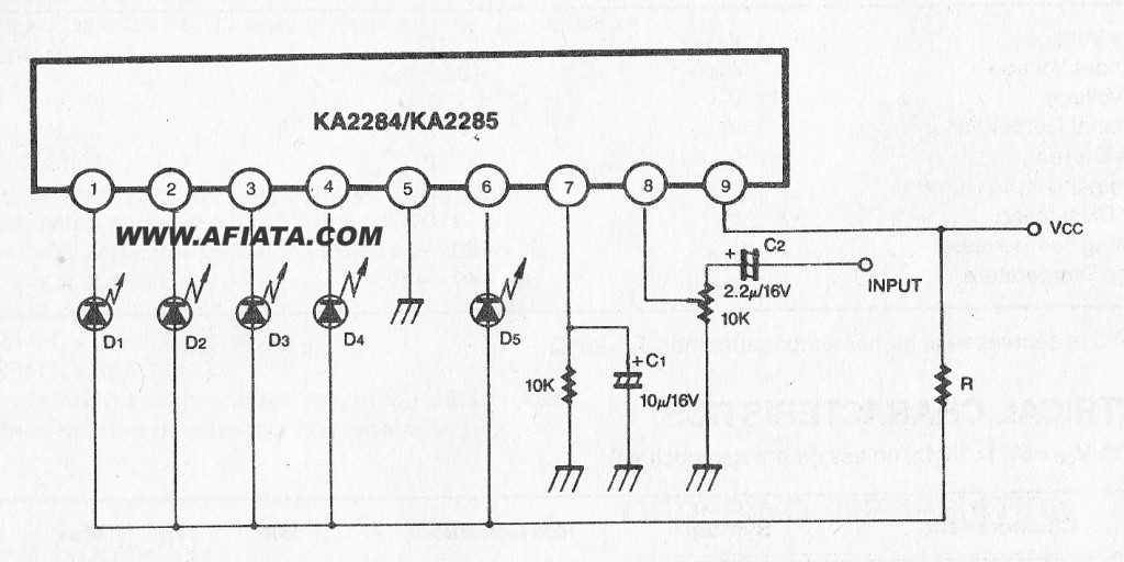 5 dot dual led level meter driver