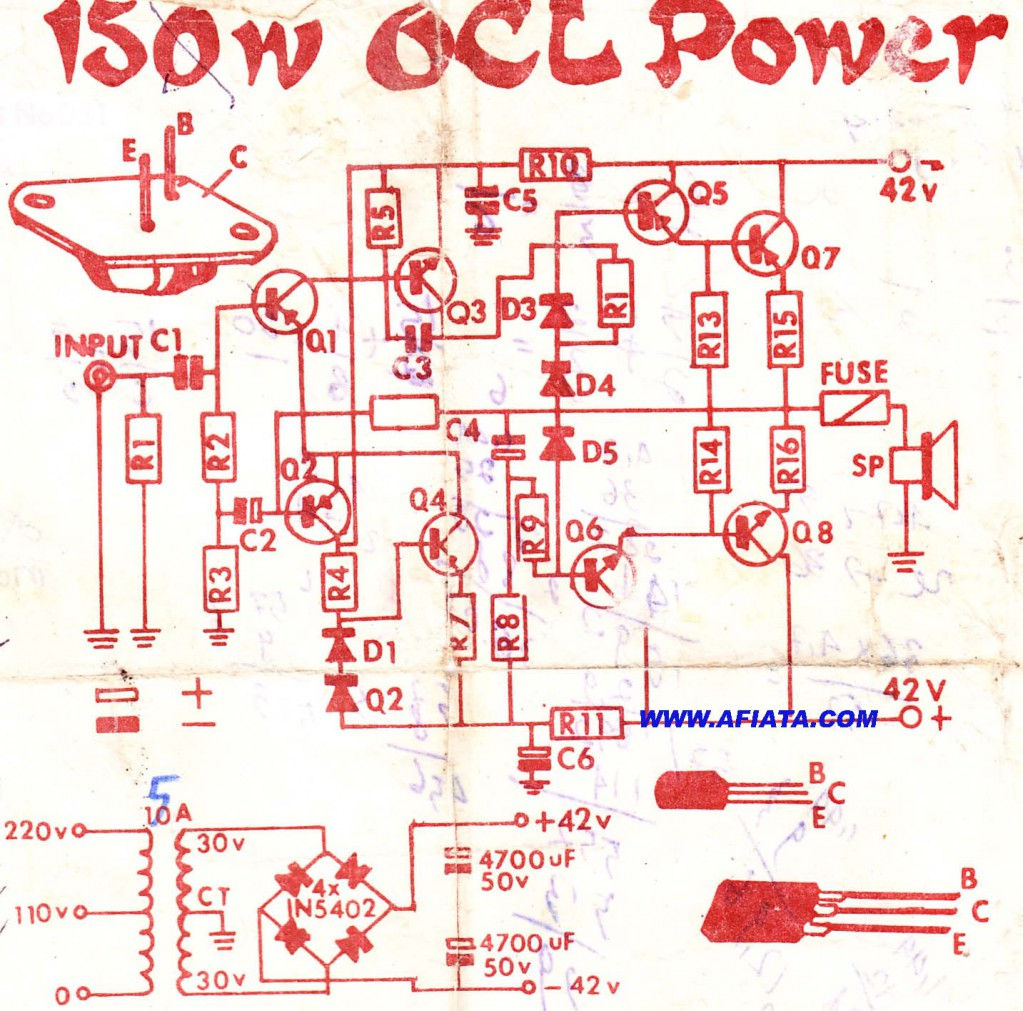 400w amplifier with 2n3055 mj2955 circuit schematic electronics rh mayasoluciones co