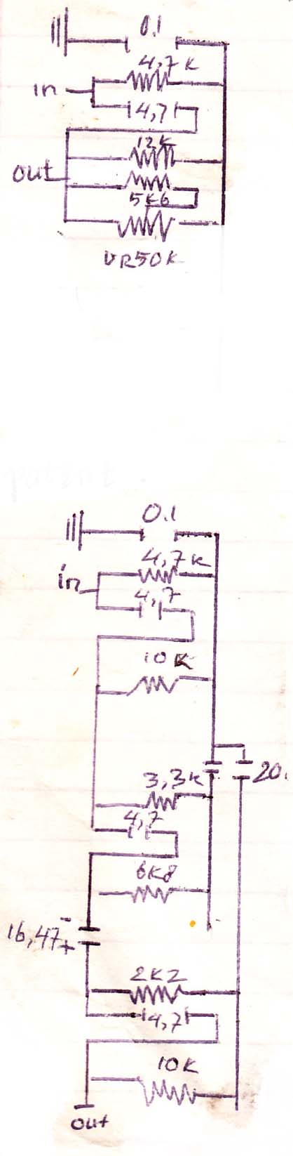 Audio Filter Circuit without voltage Electronic Circuit