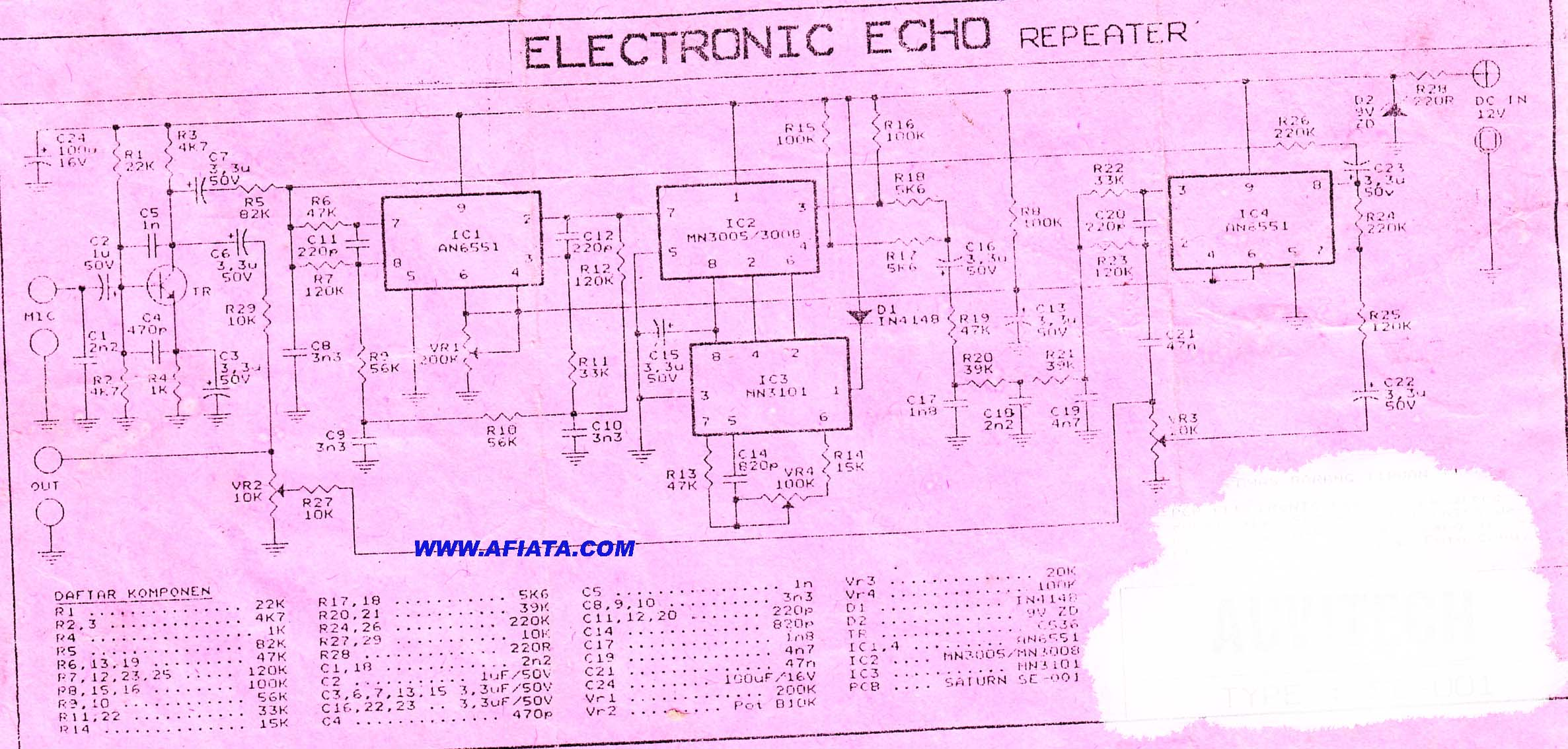 Echo Repeater Circuit