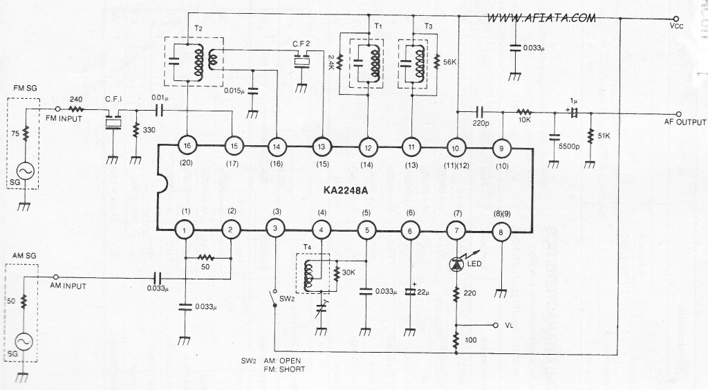 3v fm am tuner system