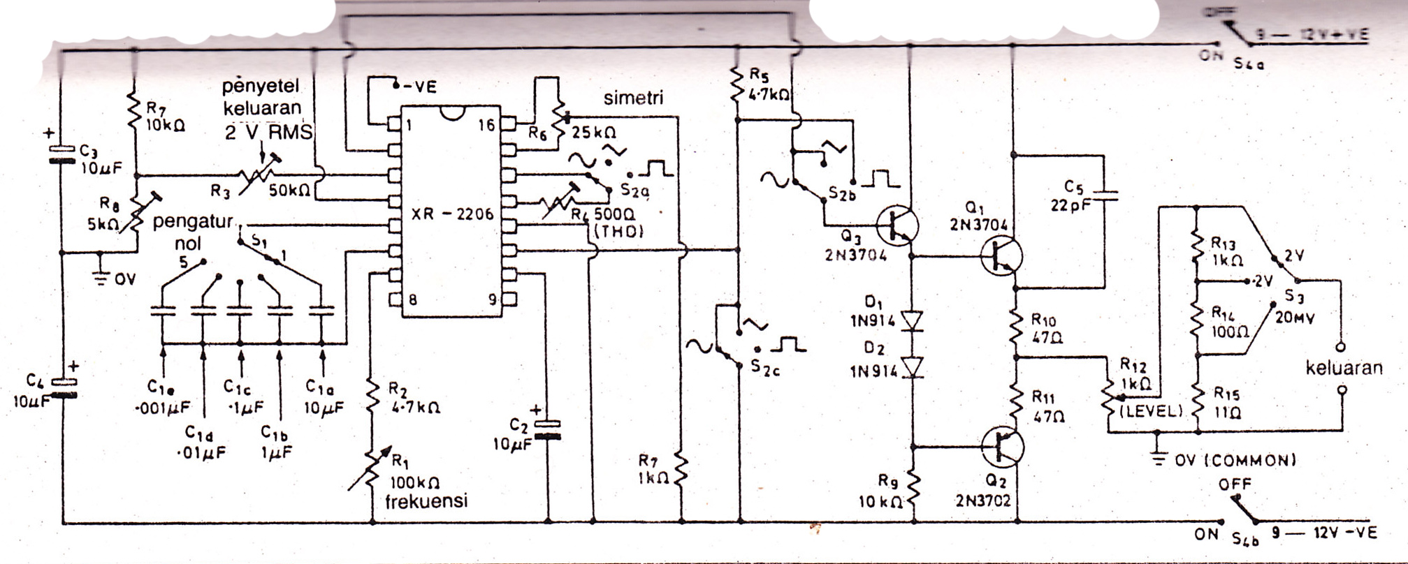Pcb Xr2206 Function Generator Electronic Circuit Diagram And Layout With