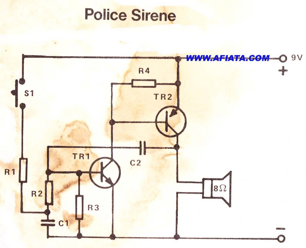 Police Siren simple electronic circuits