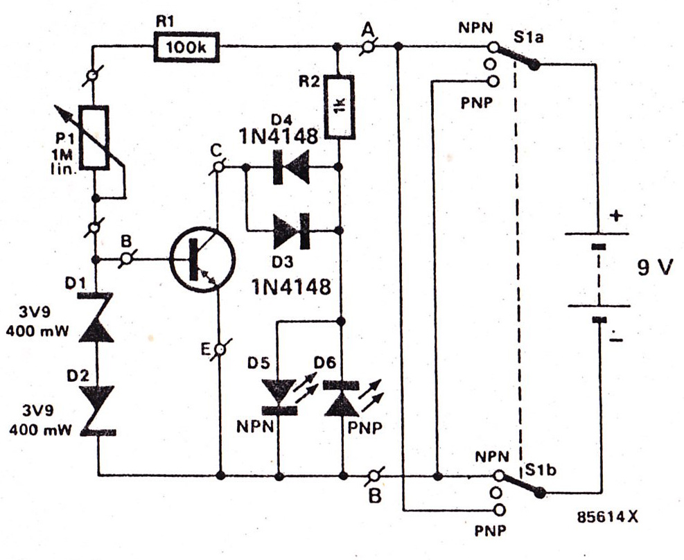 Transistor Detector circuit using  1 TR
