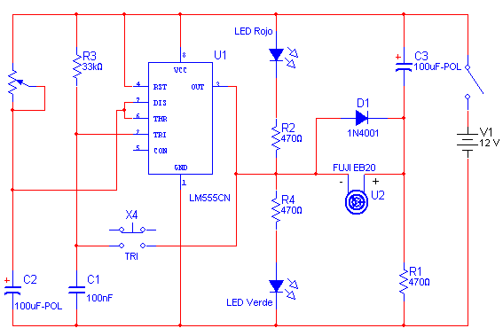 555 circuit for timer