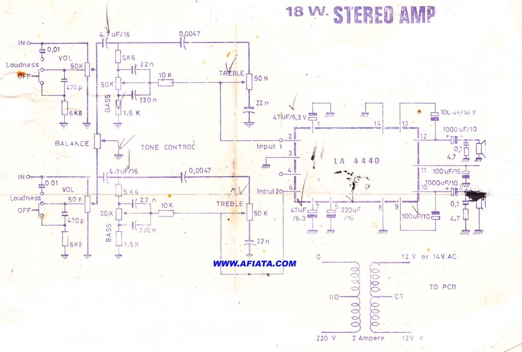 18W Audio Amplifier using IC