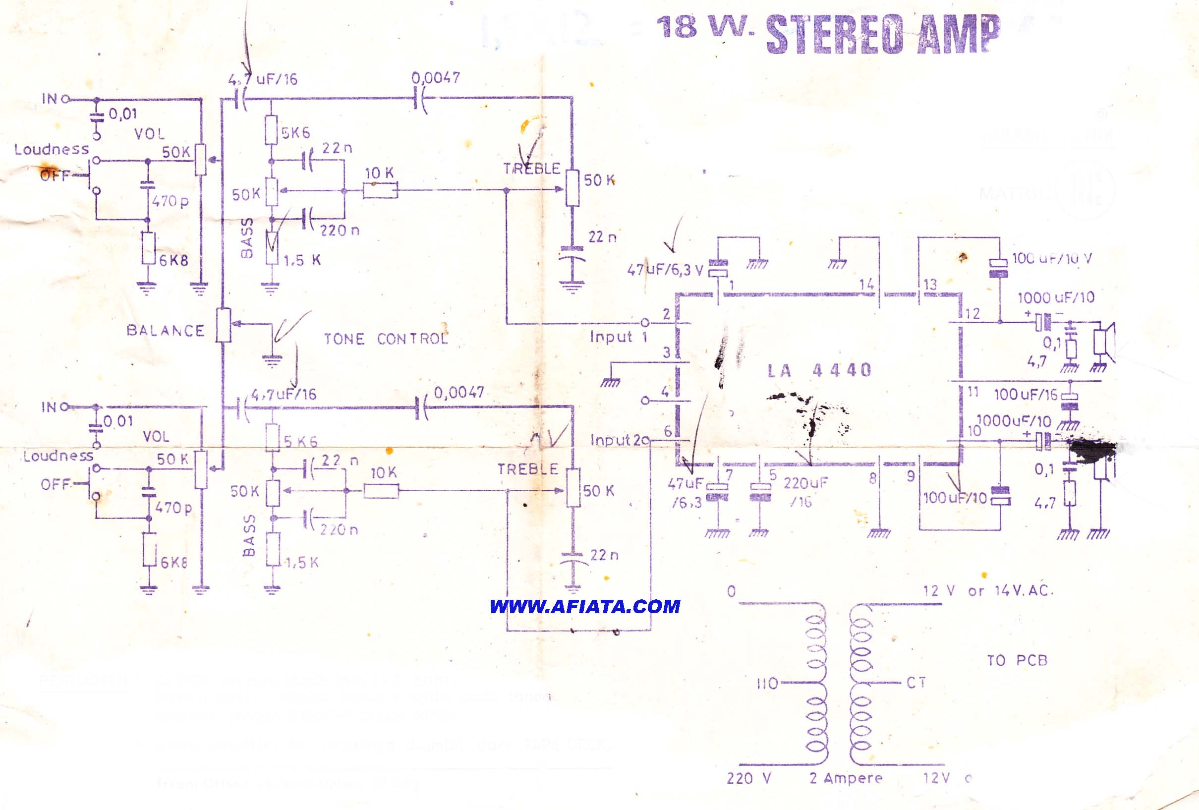 18w audio amplifier electronic circuit diagram and layout. Black Bedroom Furniture Sets. Home Design Ideas