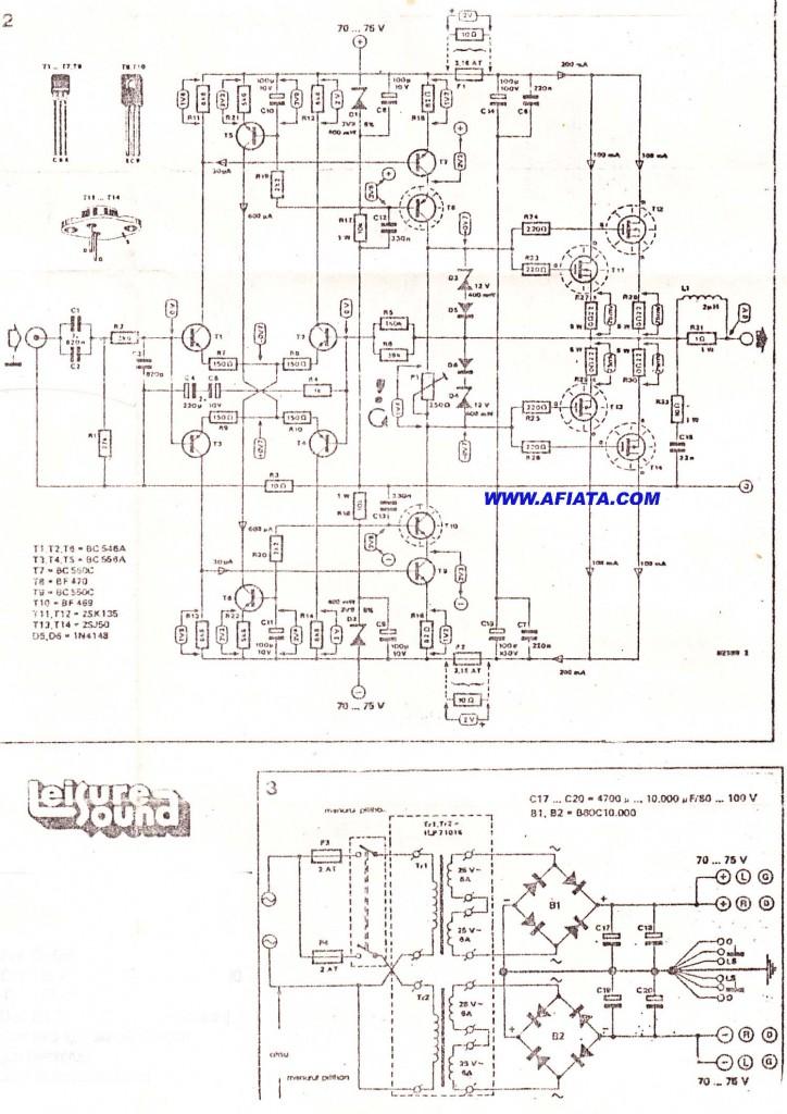 Transistor amplifier 3000w