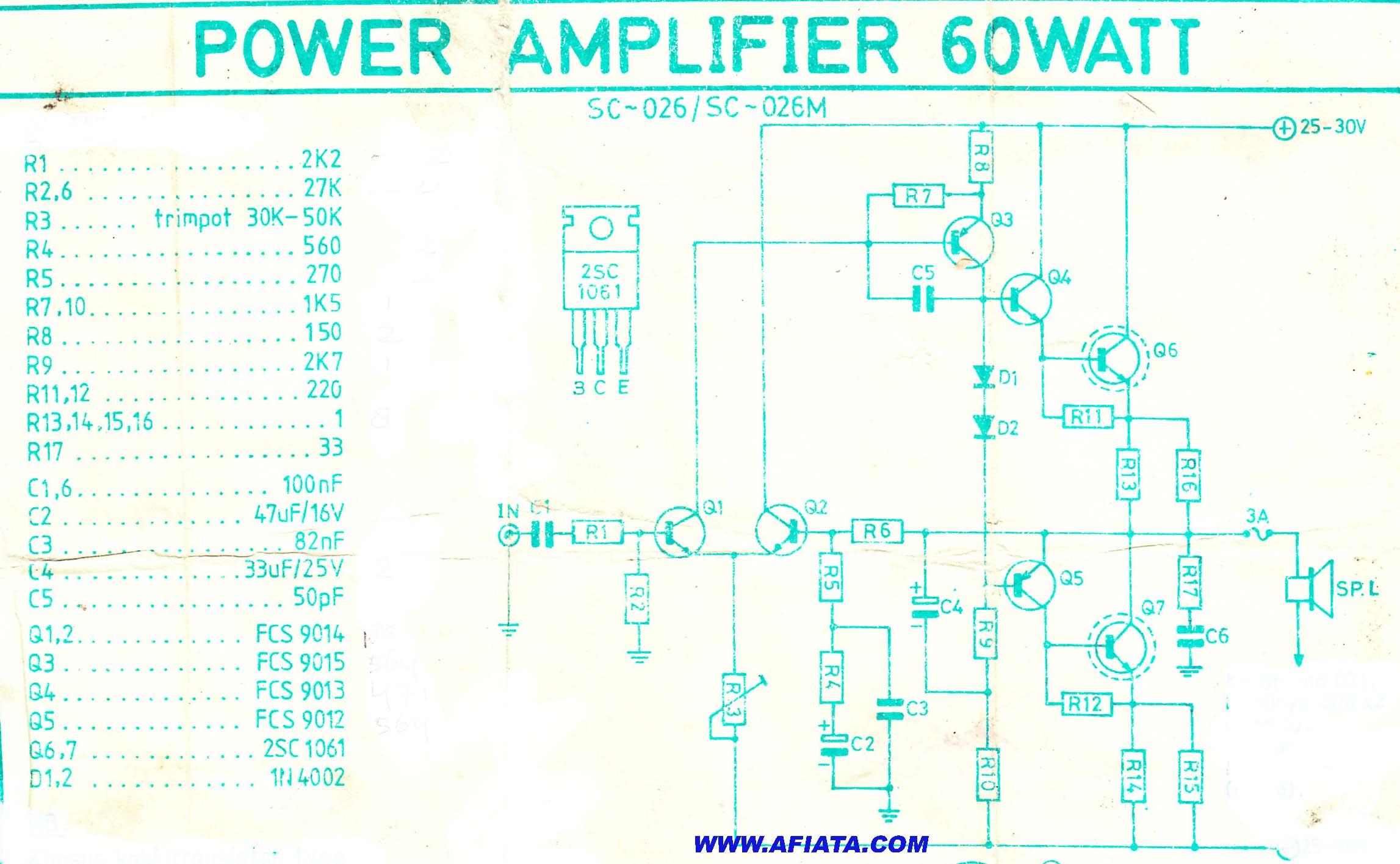 60w Power Amplifier
