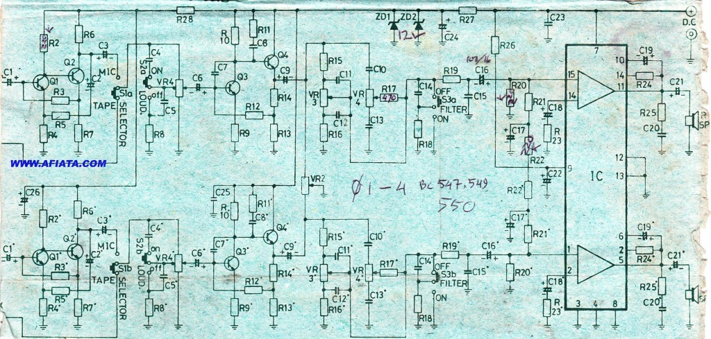 Amplifier Circuit using LA4505