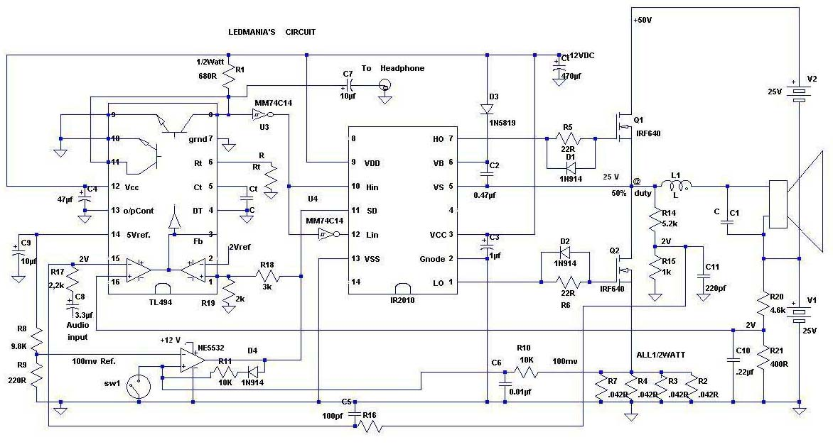 tl494 inverter circuit