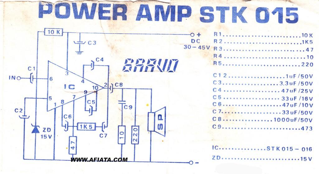 stk ic circuit using STK015