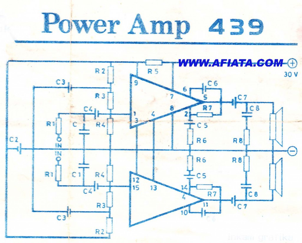 Integrated amplifiers using stk439