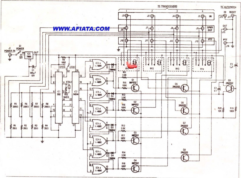 Two way radio - AUTOPARCH SELECTOR DTMF CIRCUIT USING MPS 1212, 2N2222
