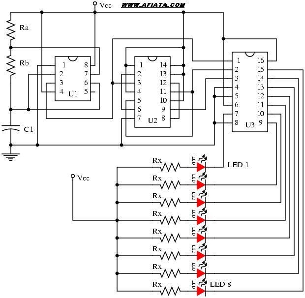Running LED lights circuit | Electronic Circuit Diagram ...