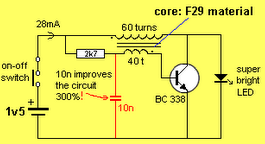 Super Bright LED Circuit using BC338