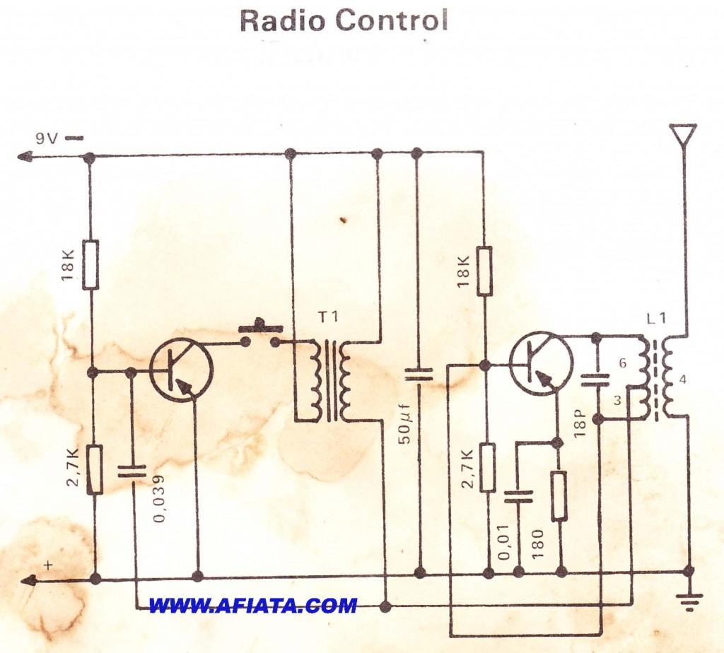 Radio Control 1  using 2SA104, 2SB187, 2SB22