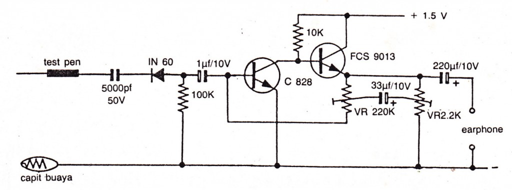 Simple and Sensitive audio detector using C828, FCS9013