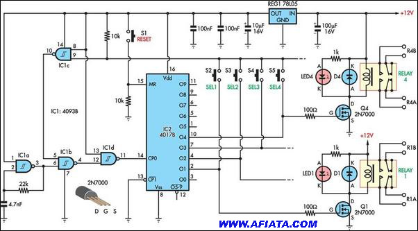 hobby electronics circuits electronic circuits diagrams, free Digital Circuits Projects free electronics circuits projects b tech electronics projects the supply voltage is 12v for the ic , help with latching relay