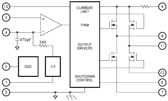 Bridge Motor Driver Equivalent Circuit Diagram