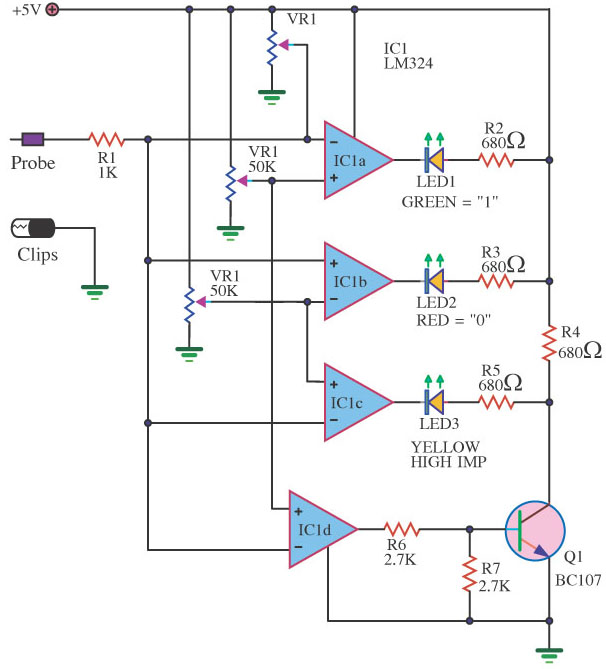 A Single Lm324 Can Thus Be Used As A For Digital Tester