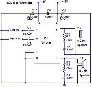 12w Audio Amplifier Circuit Electronic Circuit Diagram And Layout